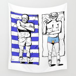 Picasso and Hockney- Great expectations Wall Tapestry