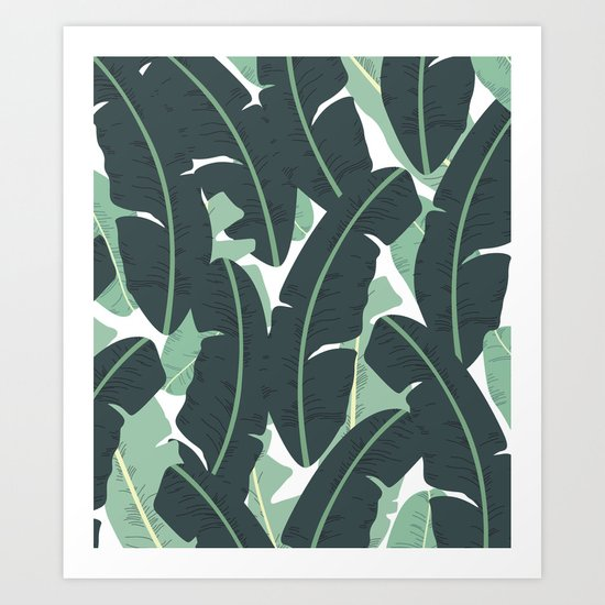 Banana Leaf Pattern #society6 #decor #buyart Art Print