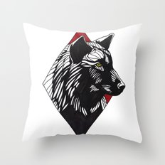 A Wolf at the Door Throw Pillow