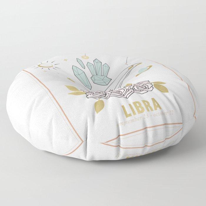 Libra Zodiac Series Floor Pillow