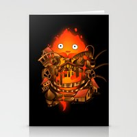 pocket Stationery Cards featuring Pocket Calcifer by Natalie