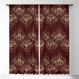 Persian Oriental pattern deep red and gold Blackout Curtain