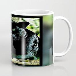 Big Cat Models: Green Eyed Black Panther Coffee Mug