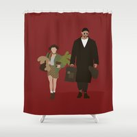 leon Shower Curtains featuring leon by Live It Up
