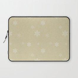 Snow Flakes pattern Yellow #homedecor #nurserydecor Laptop Sleeve