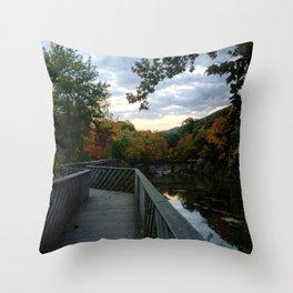 Madam Brett Park in Autumn - Beacon NY Throw Pillow