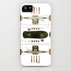 The Anatomy of a Skateboard iPhone (5, 5s) Slim Case