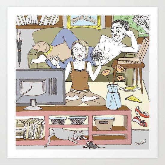 Living together Art Print