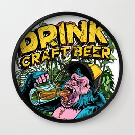 Drink Craft Beer Wall Clock