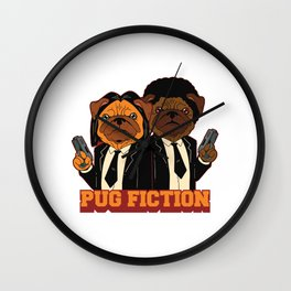 Pug Fiction  Wall Clock