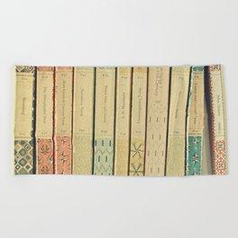 Old Books Beach Towel