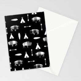 Buffalo Tribe on Black Stationery Cards