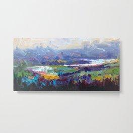 Overlook Abstract Landscape Metal Print