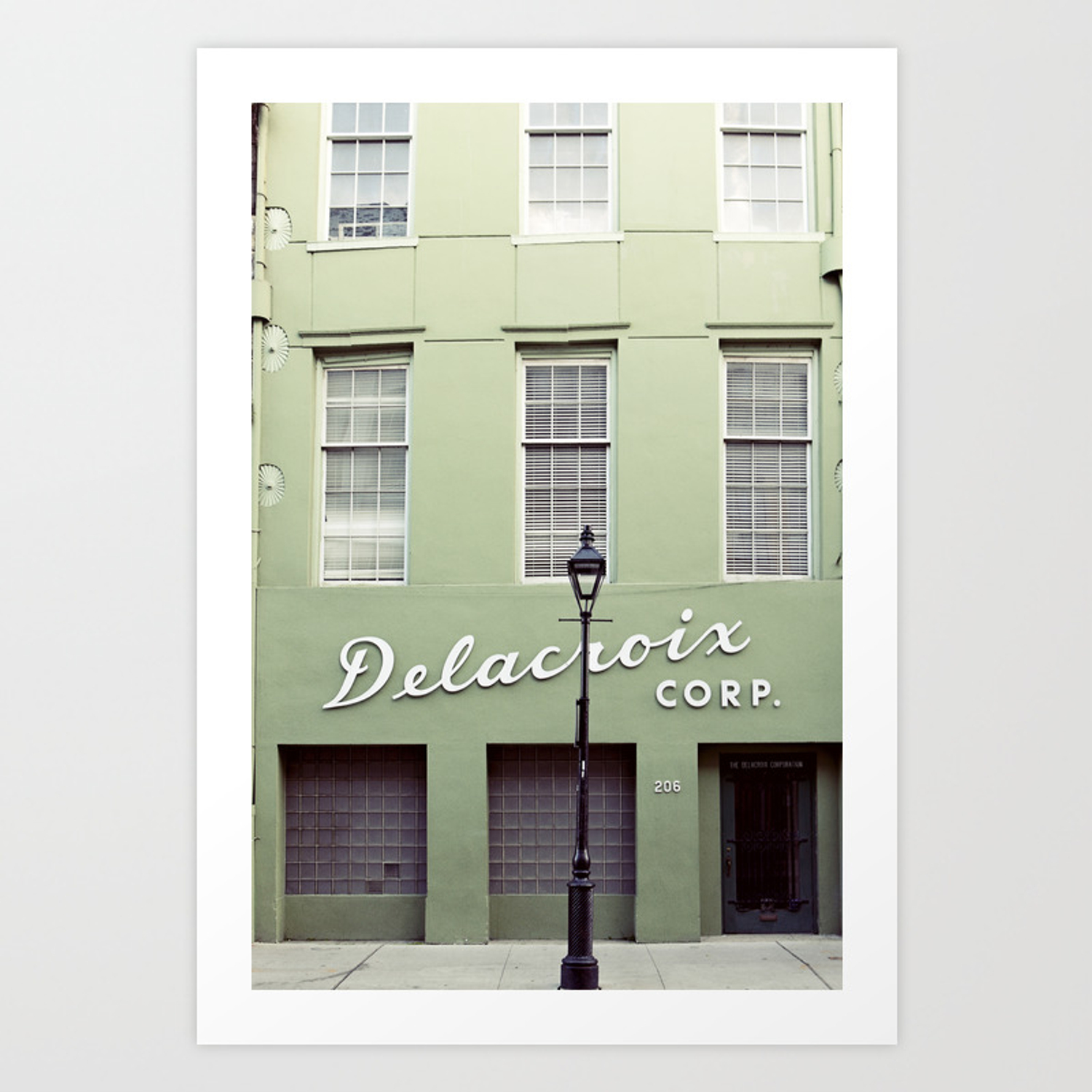 New orleans delacroix building art print