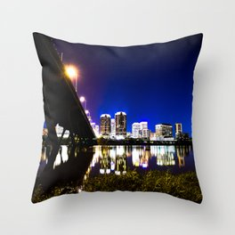 RVA Skyline at Night Throw Pillow