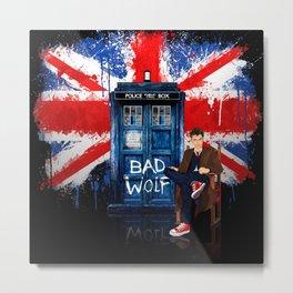 British Bad Wolf Metal Print