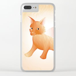 Red Little Fox (Full) Clear iPhone Case