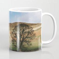 Sunlit tree and hillside. Edale, Derbyshire, UK. Mug