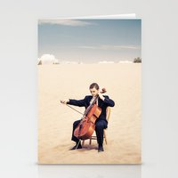 cello Stationery Cards featuring Desert Cello by diane555