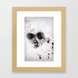 Skull Girl 22 Framed Art Print