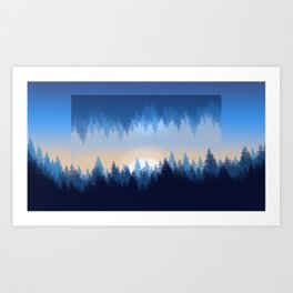 Winter Pines Reflected Art Print
