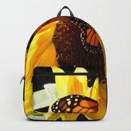 Monarch Butterfly Sunflower Backpack