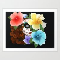 Day of the Hibiscus Art Print