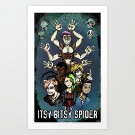 Itsy Bitsy Spider- The Spider Family Art Print
