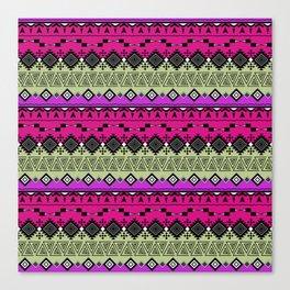 Colorful Aztec pattern. Canvas Print