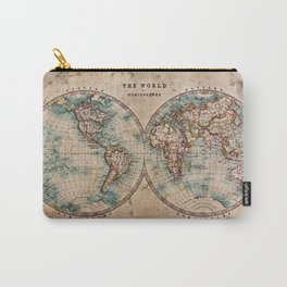 Vintage Map of the World 1800 Carry-All Pouch