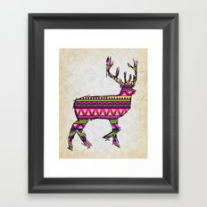 Deer Navajos pattern Framed Art Print