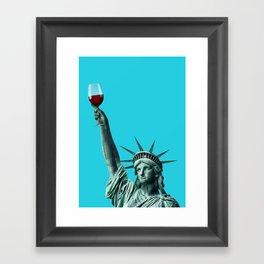 Liberty of drinking Framed Art Print