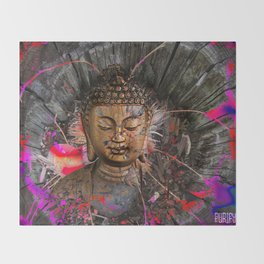 Dreaming Buddha Throw Blanket