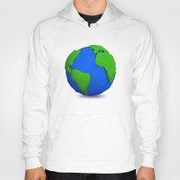 globe Hoodies featuring Globe by Tassos Kotsiras
