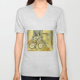 Alley Bike Unisex V-Neck