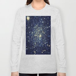 galaxY Stars : Midnight Blue & Gold Long Sleeve T-shirt