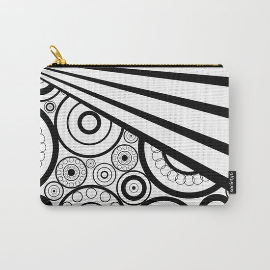Abstract black and white pattern. Carry-All Pouch