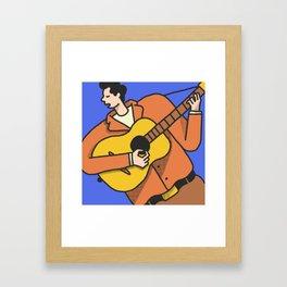 Mr. Tambourine Man Framed Art Print