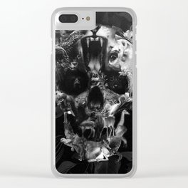 Kingdom Skull B&W Clear iPhone Case
