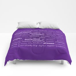 Fun With Colour & Words - Purple Comforters