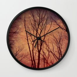 Reaching for the Sky: Peach/Coral Wall Clock