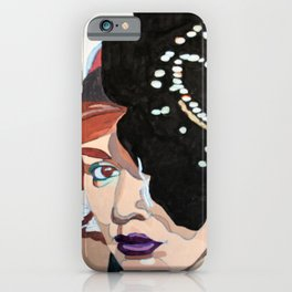 Lady with Flower iPhone Case