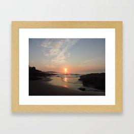 Purple Sunrise in Maine Framed Art Print