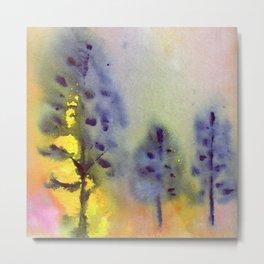 trees in sunset Metal Print