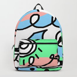 Crashing Wave - Black White Green Blue Backpack