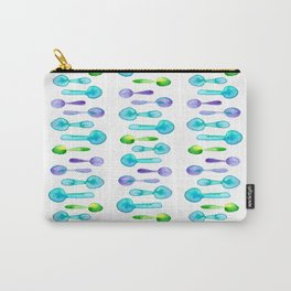 Watercolor Spoon Striped Pattern! Carry-All Pouch