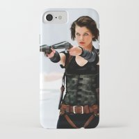 resident evil iPhone & iPod Cases featuring Milla Jovovich @ Resident Evil by Gabriel T Toro