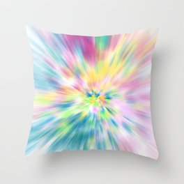 Pastel Explosion Tie Dye Abstract Throw Pillow