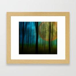 Full Moon Forest Framed Art Print