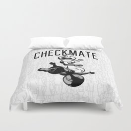 Checkmate Punch Funny Boxing Chess Duvet Cover
